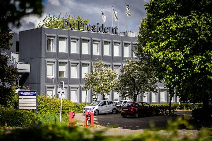 De President, polenhotel waar incident plaatsvond afgelopen weekend.