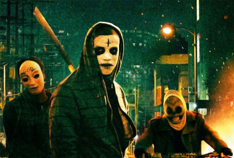 Moordzuchtige bendes trekken tijdens 'The Purge' de straat op. Beeld Universal Pictures
