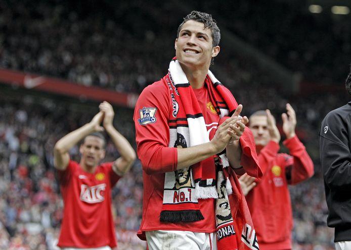 Cristiano Ronaldo als speler van Manchester United in 2008.
