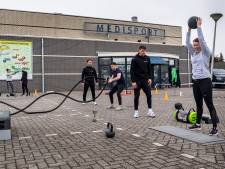 Fitnessprotest in Etten-Leur. Stilzitten is géén optie