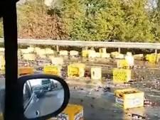 Des litres de bières répandus sur l'autoroute E42 à hauteur d'Andenne
