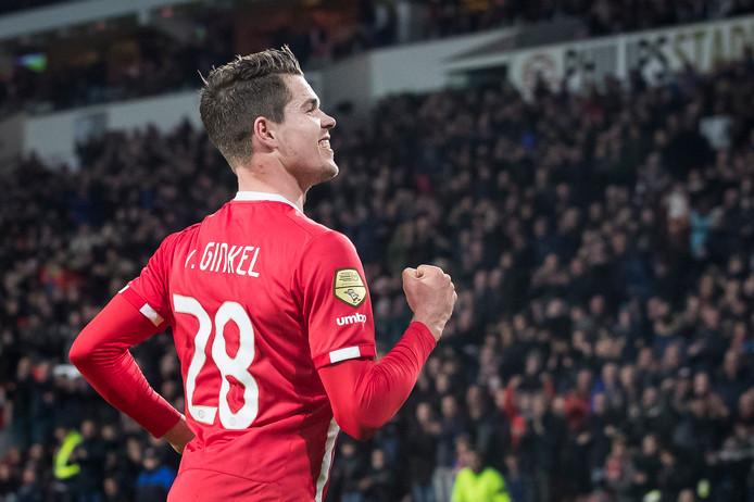 EINDHOVEN, PSV - Excelsior, voetbal, Eredivisie, seizoen 2016-2017, 14-01-2017, Philips Stadion, PSV speler Marco van Ginkel heeft de 1-0 gescoord.