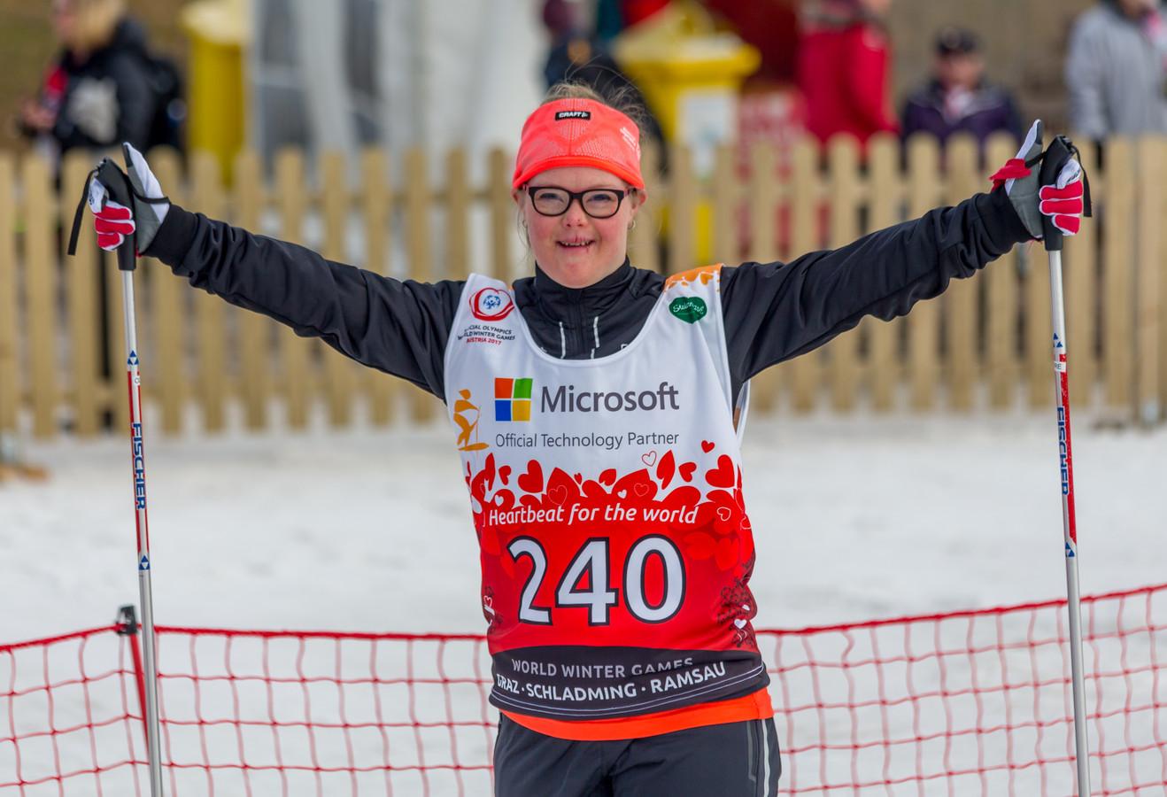 Blijdschap bij de World Winter Games 2017 in Oostenrijk.