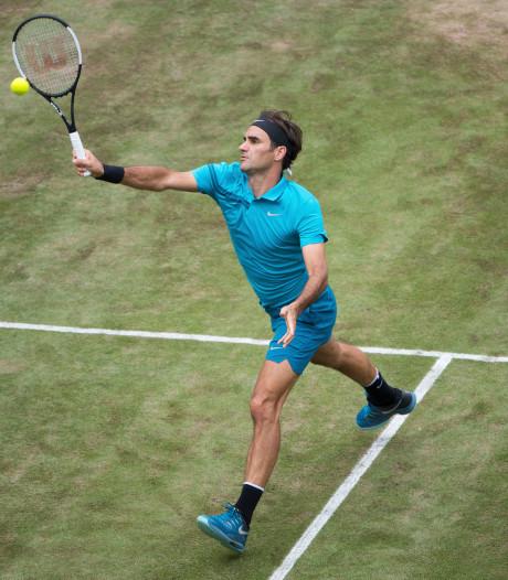 Federer gaat door met winnen in Halle