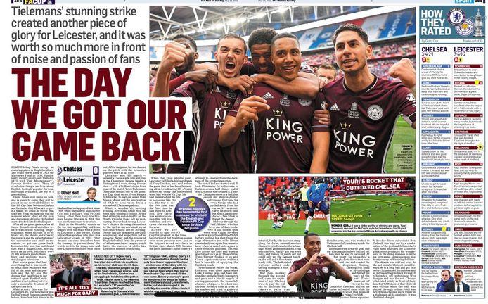 De Daily Mail over Tielemans en de FA CUP winst van Leicester.