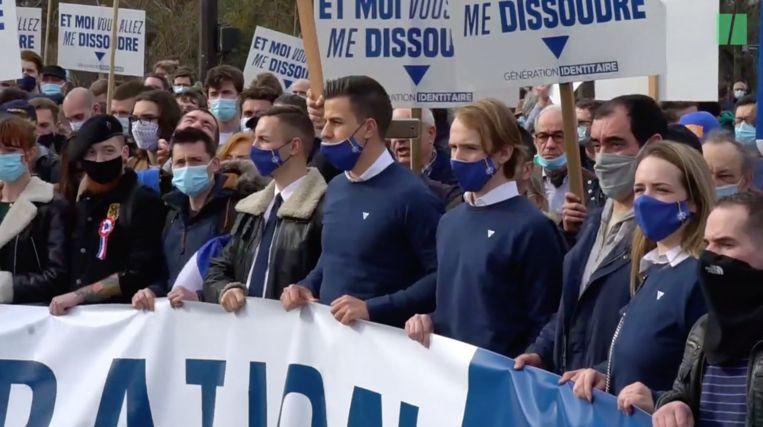 Dries Van Langenhove overtrad onlangs nog de coronamaatregelen met een trip naar Parijs voor een extreemrechtse betoging. Beeld Huffington Post
