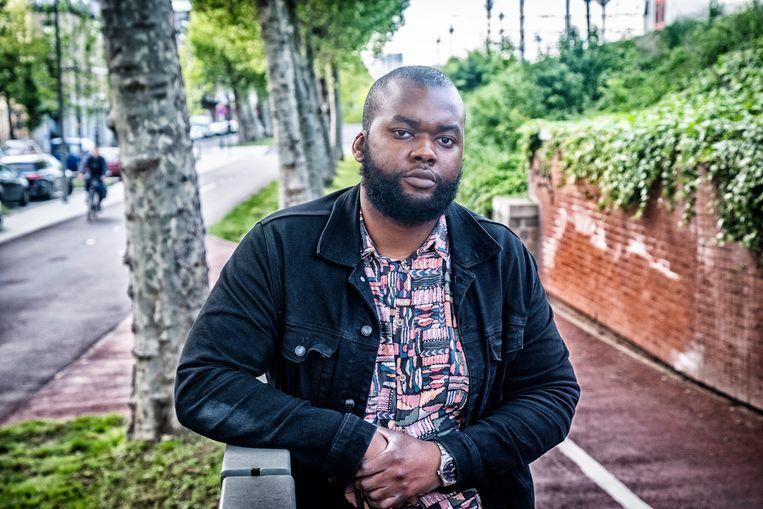 Lieven Miguel Kandolo (27) is auteur, activist en medevoorzitter van de vzw Hand in Hand tegen racisme. Beeld Tim Dirven