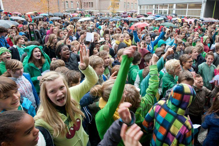 Twee scholen plannen een actie voor het klimaat.