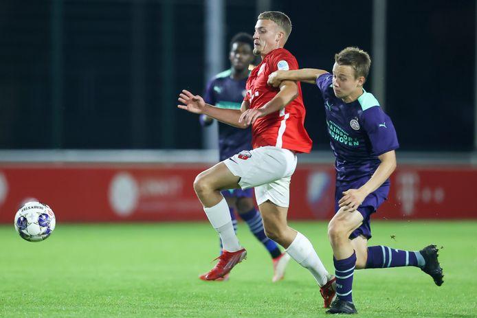Mathias Kjølø verloor met Jong PSV in Utrecht.
