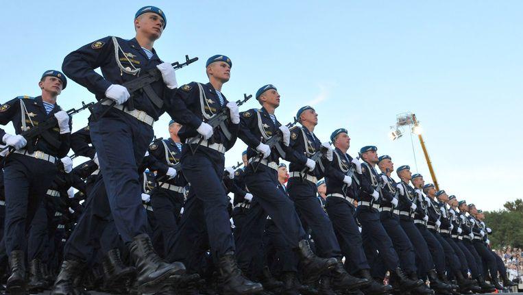 Een Russische militaire parade, eerder deze maand Beeld afp
