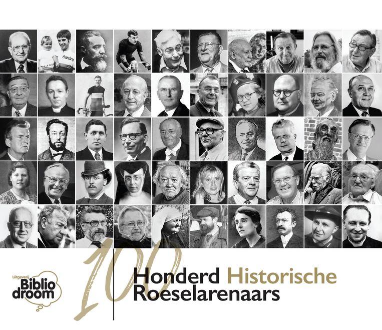 De cover van Honderd Historische Roeselarenaars.