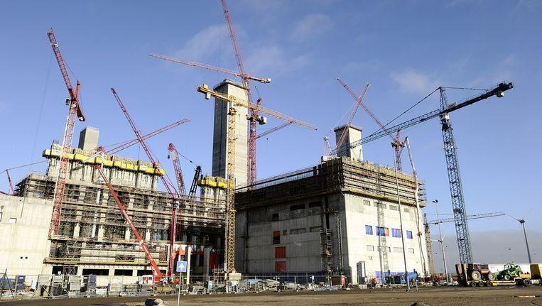 De bouw aan de kolencentrale gaat gewoon door. © ANP Beeld