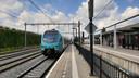 Toch wel: De trein naar Bieleveld arriveert vanuit Hengelo en Oldenzaal.