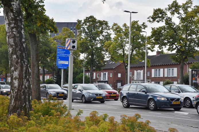 Deze flitspaal in Tilburg flitste het meeste van alle palen in Brabant.