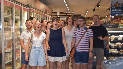 In promotie: een gratis zangstonde in de supermarkt