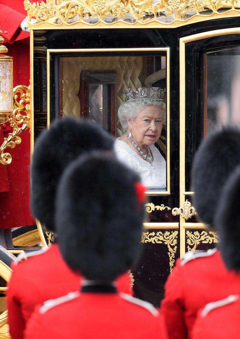 Honderden openbare verplichtingen heeft koningin Elizabeth elk jaar. Beeld Hollandse Hoogte / AFP