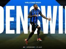 Stefano Denswil de retour au Club de Bruges, prêté par Bologne