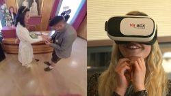 Familie volgt huwelijk dankzij virtual reality