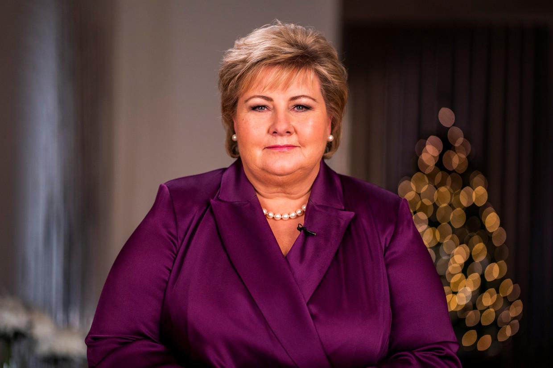 De Noorse premier Erna Solberg. Beeld via REUTERS