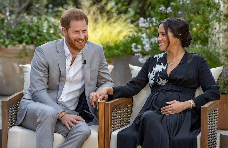 Prince Harry en Meghan Markle. Beeld AP