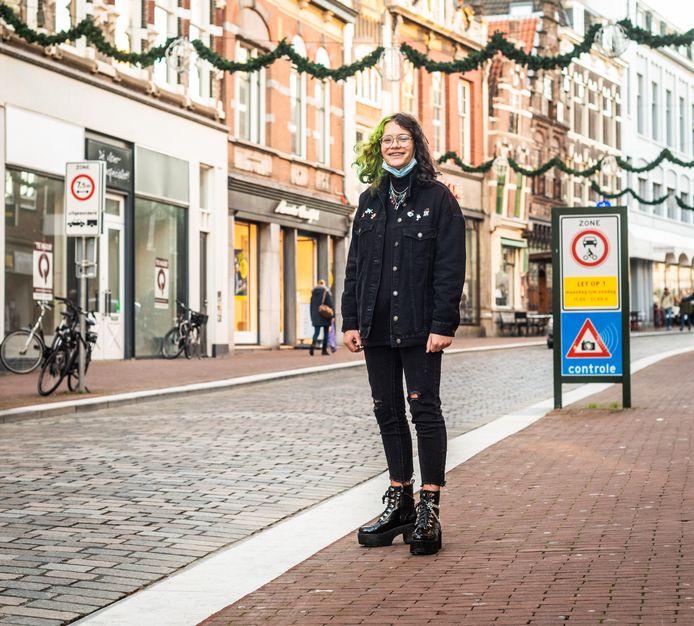 Luna Kentie in de Visstraat in Dordrecht.