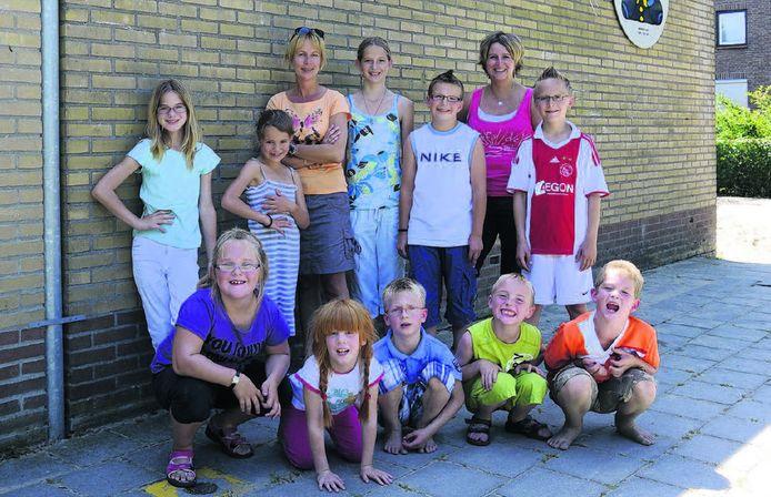 Basisschool De Berenburcht in Baarland telt nog maar tien leerlingen verspreid over verschillende groepen. Het schooltje sluit over anderhalve week voorgoed de deuren. FOTO AQUARIUS