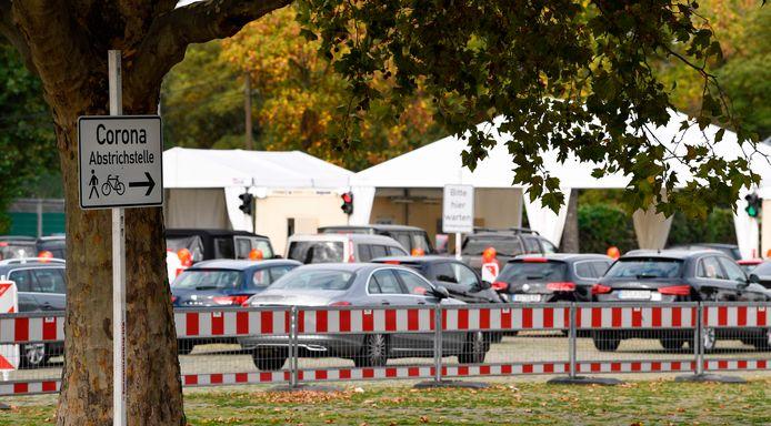 Busy at the test street in Stuttgart.