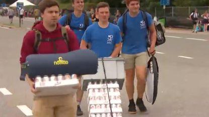 Duizenden festivalgangers stromen nu al toe in Hasselt voor Pukkelpop