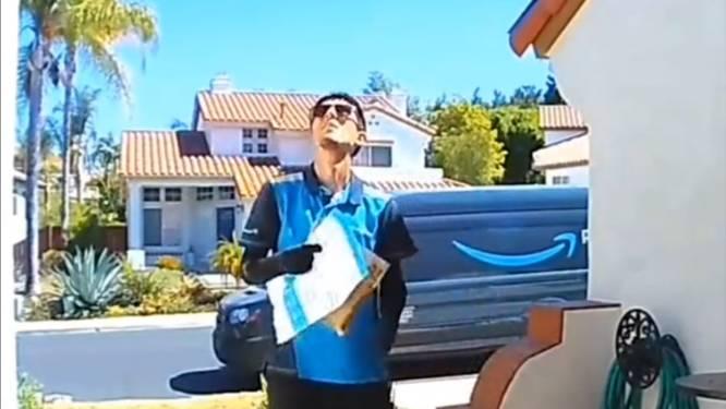 """""""Hele dag gelachen!"""" Casey vindt deze hilarische blunder op zijn deurbelcamera"""