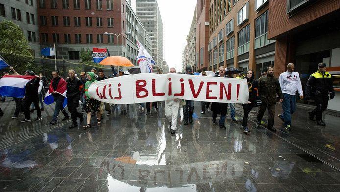 Pro Patria-demonstratie op 10 augustus.