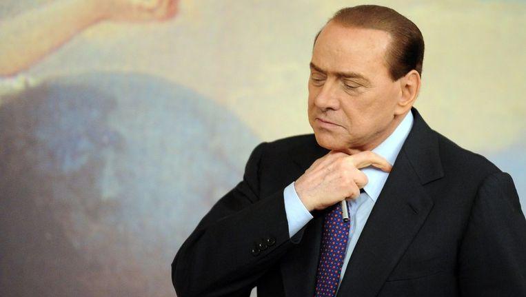 Berlusconi in Palazzo Chigi. Beeld afp