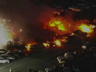 Straffe beelden van inferno op parking autoverkoper