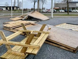 """Stormwind vernielt twee bubbelhuisjes bij frituur De Routier: """"Gelukkig was er niemand aanwezig"""""""