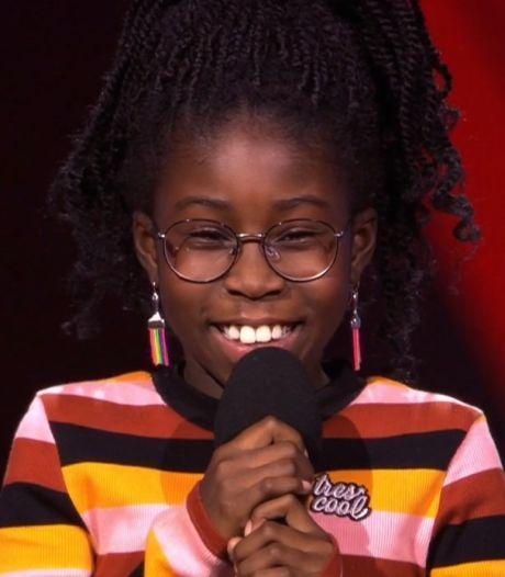 Bijna 1,7 miljoen kijkers zien brutale Jenai (10) van Even tot hier indruk maken bij The Voice Kids