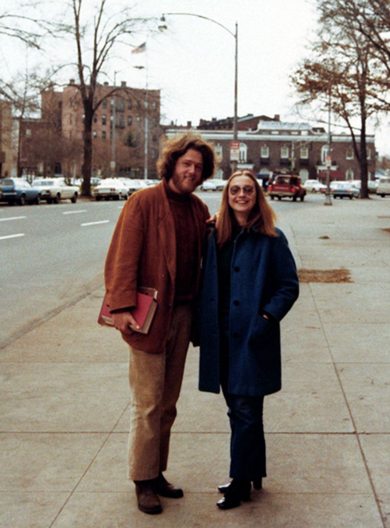 Jaren zeventig: als studente met Bill op de universiteit van Yale. Beeld William J. Clinton Presidential