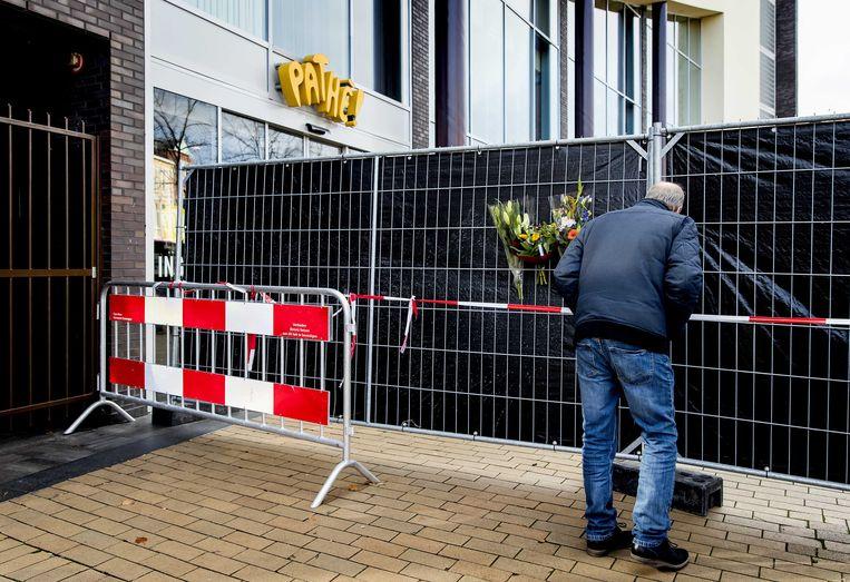 De Pathe-bioscoop in Groningen waar vorig jaar twee schoonmakers werden omgebracht. Beeld ANP