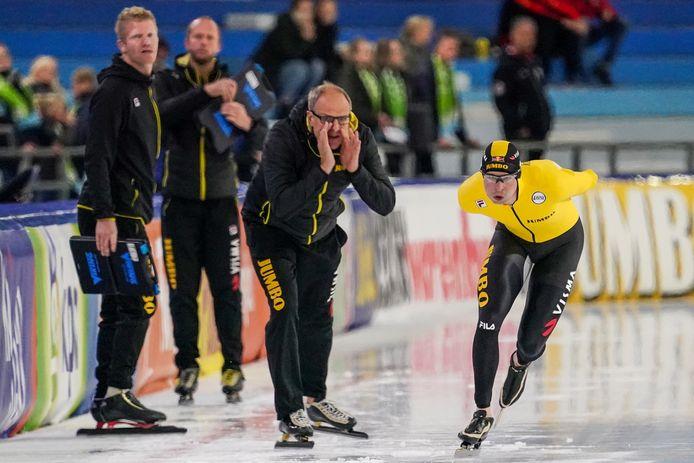 Coach Jac Orie en Sven Kramer.