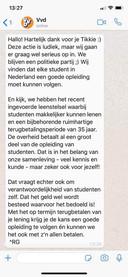Het antwoord dat de VVD sinds woensdag standaard geeft op Tikkies.