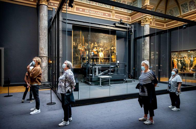 Bezoekers in het Rijksmuseum. Beeld Hollandse Hoogte /  ANP