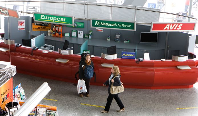 Autoverhuur, in dit geval op vliegveld Eindhoven Airport