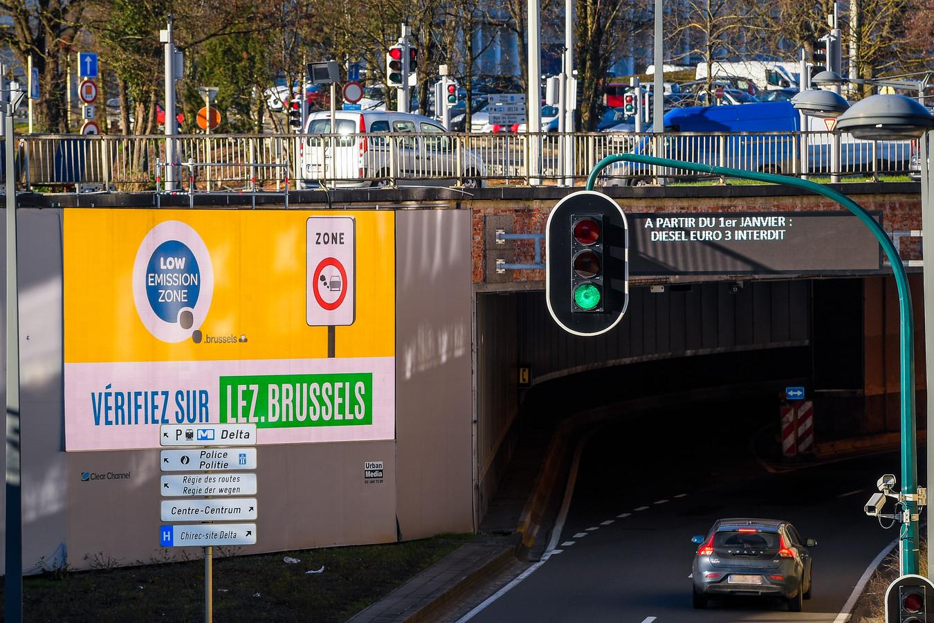 De lage-emissiezone in Brussel.