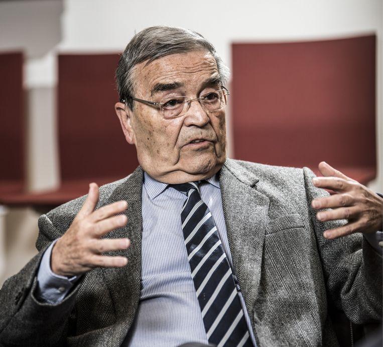 Louis Tobback: 'Als één van de prooien een jongen van vreemde origine is die denkt dat hij ook bij de 'Vlaamsche elite' mag horen, is het helemaal feest.' Beeld