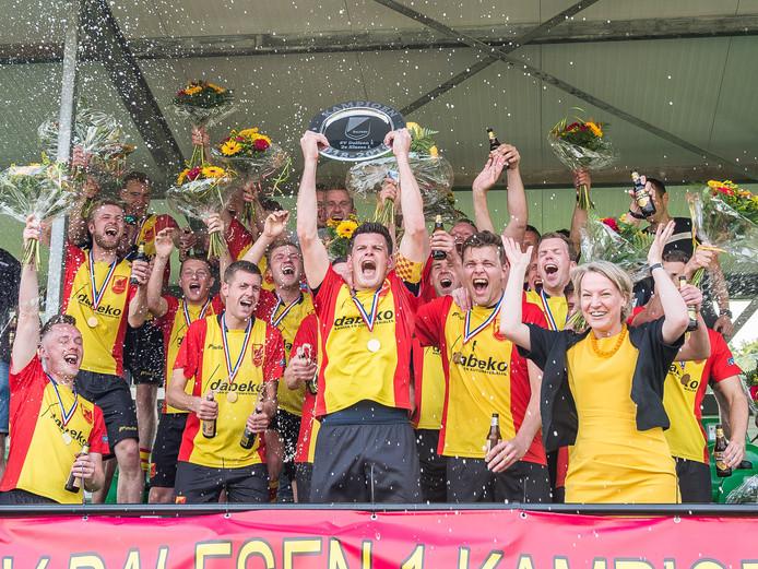 Dalfsen-aanvoerder Sjoerd Klarenbeek gaat met zijn team voor het eerst in de eerste klasse spelen.