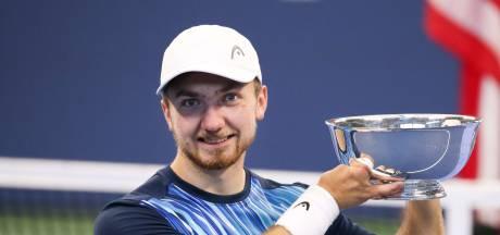 Tennistrainer Joop Broens in tranen na zege van Sam Schröder op US Open
