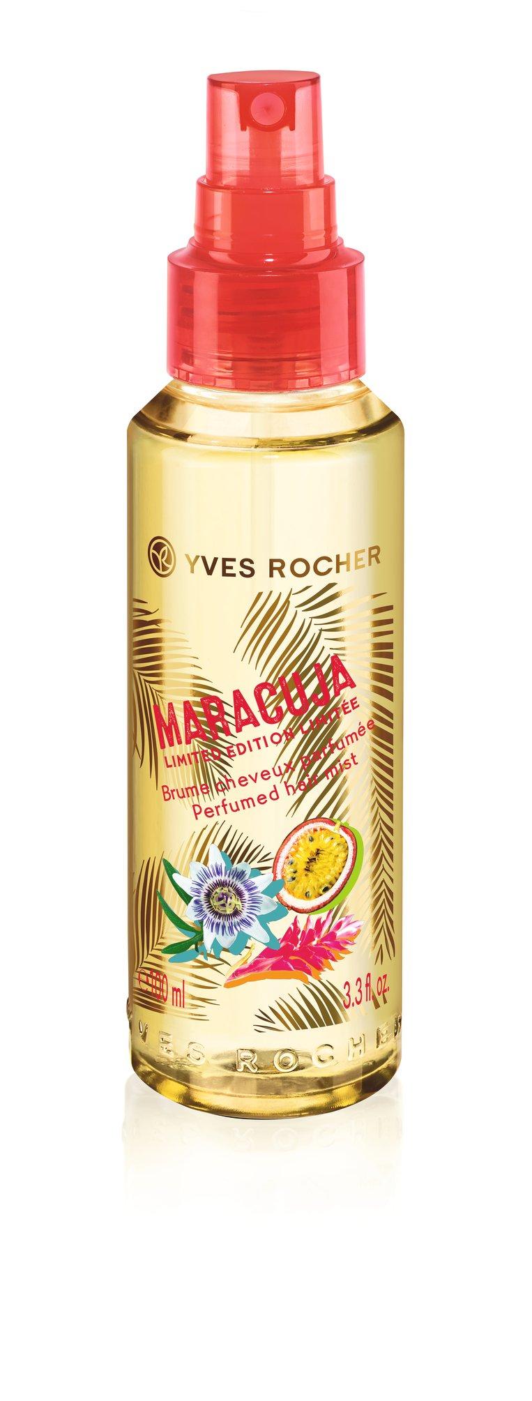 Doet je haar geuren als een zomerse cocktail met passievrucht en gember. Heel erg jummie! Haarspray Maracuja limited edition van Yves Rocher € 14,90 www.yves-rocher.be