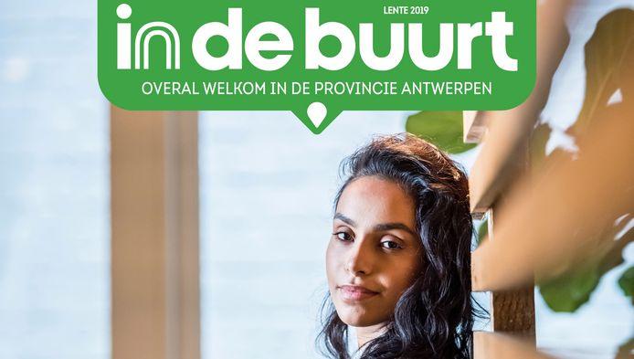 Cover van het eerste nummer van In De Buurt Antwerpen dat op 30 april verschijnt.