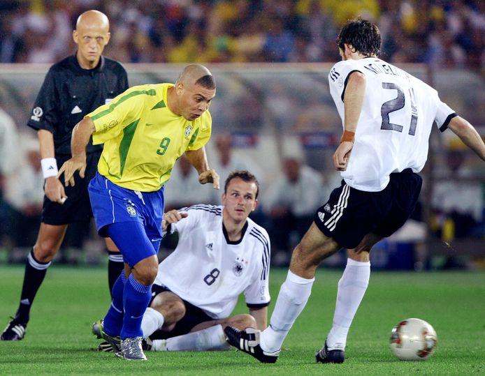 Ronaldo tijdens de WK-finale van 2002.