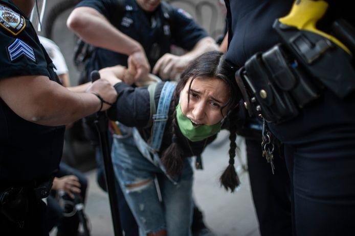 Politieoptreden in New York.