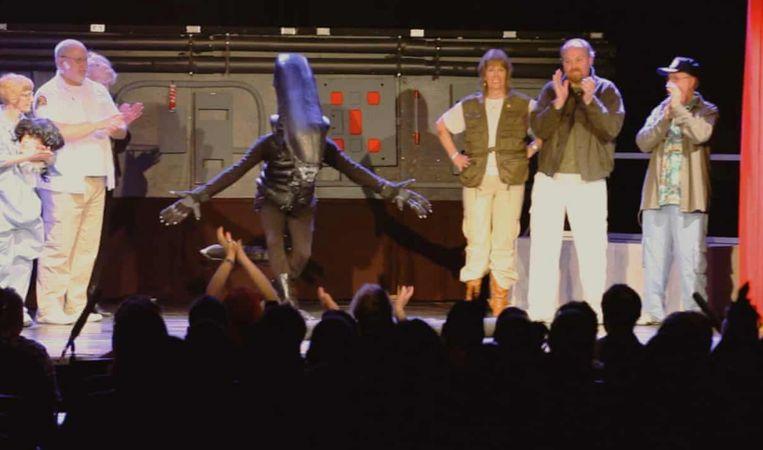 'Alien' eenmalig op een Londens podiumop West End. Beeld