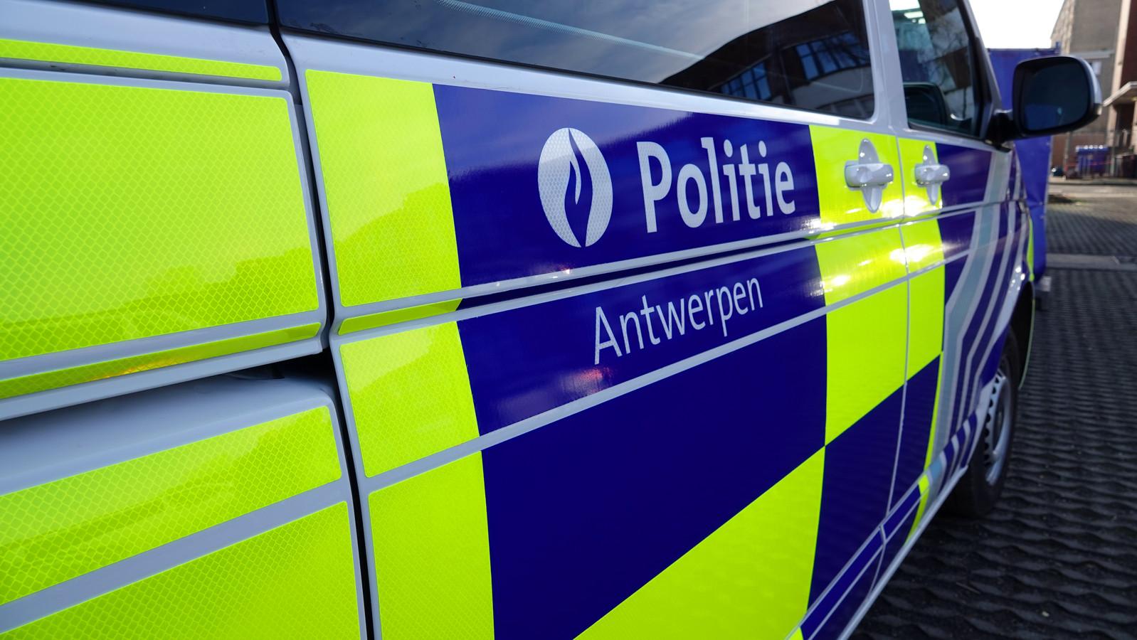 Politie Antwerpen stock Illustratiebeeld
